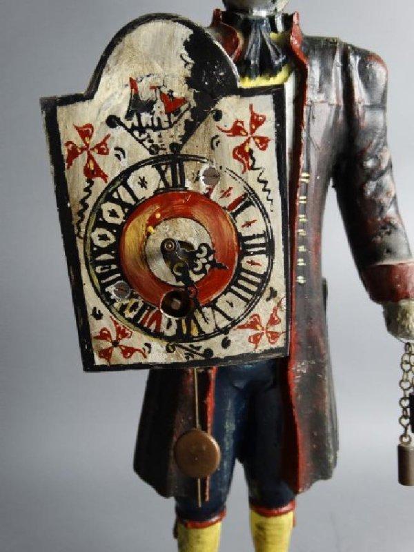 Antique Cast Metal Clock - 4