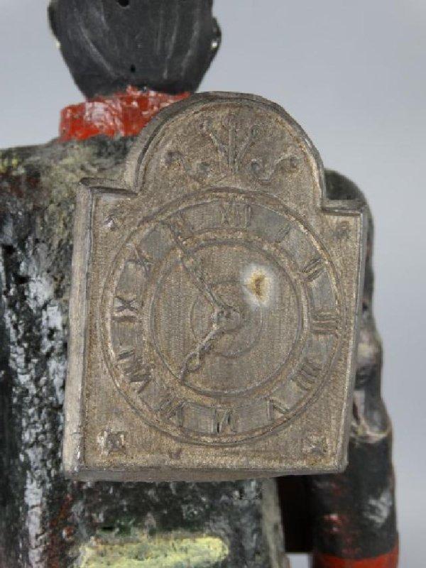 Antique Cast Metal Clock - 9
