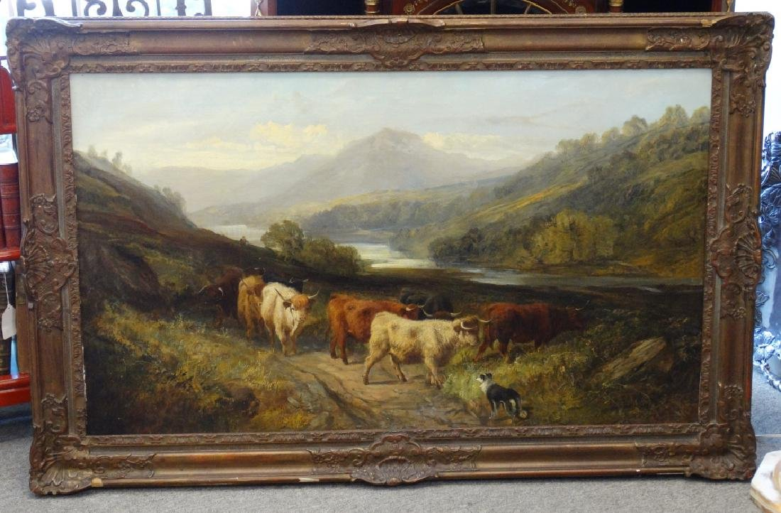 Attributed to WATSON : Large Oil Painting
