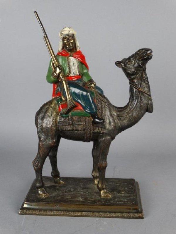 Cold Painted Vienna Bronze Arabian Figure