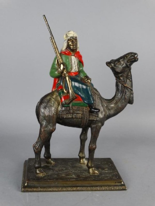 Cold Painted Vienna Bronze Arabian Figure - 2