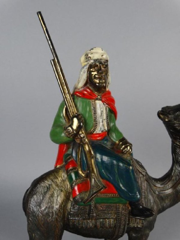 Cold Painted Vienna Bronze Arabian Figure - 3