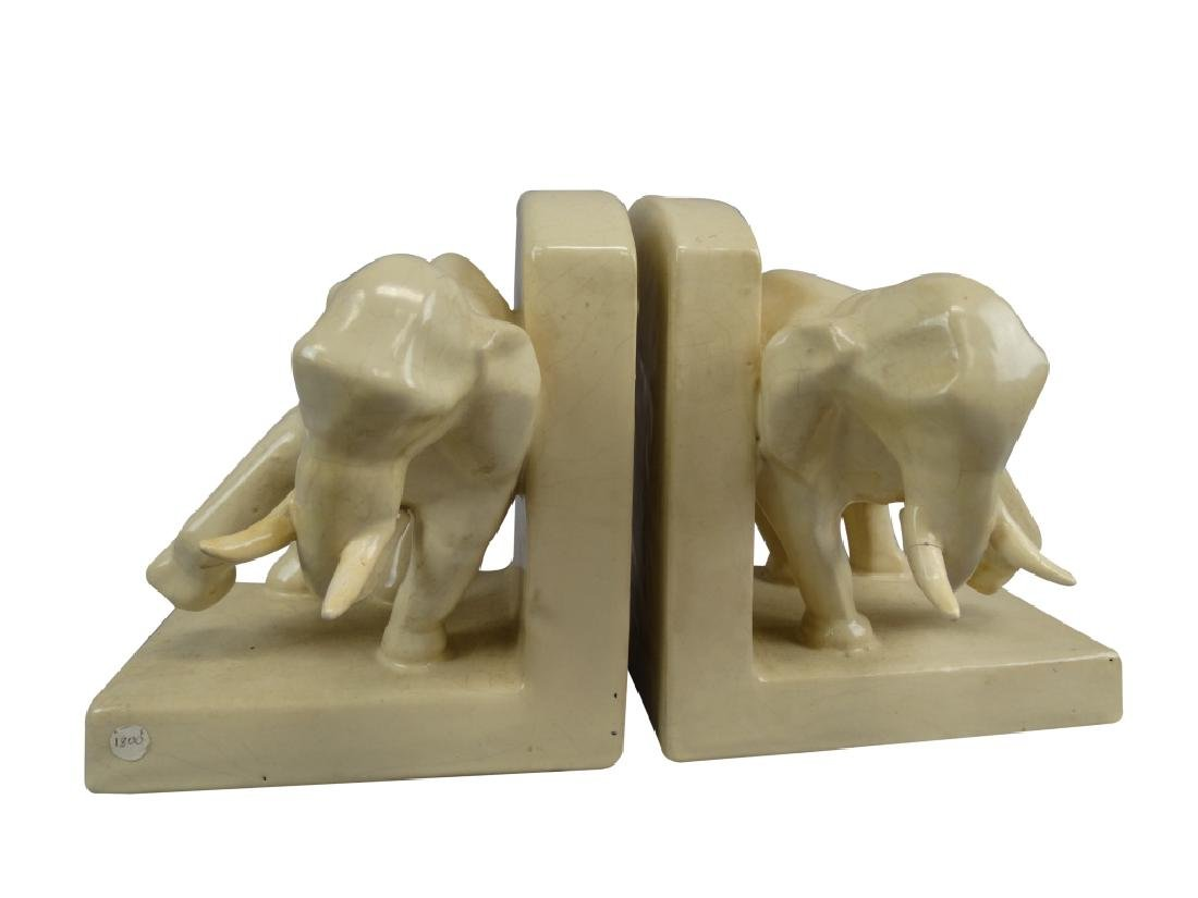 Pair of Henri Delcourt Elephant Bookends