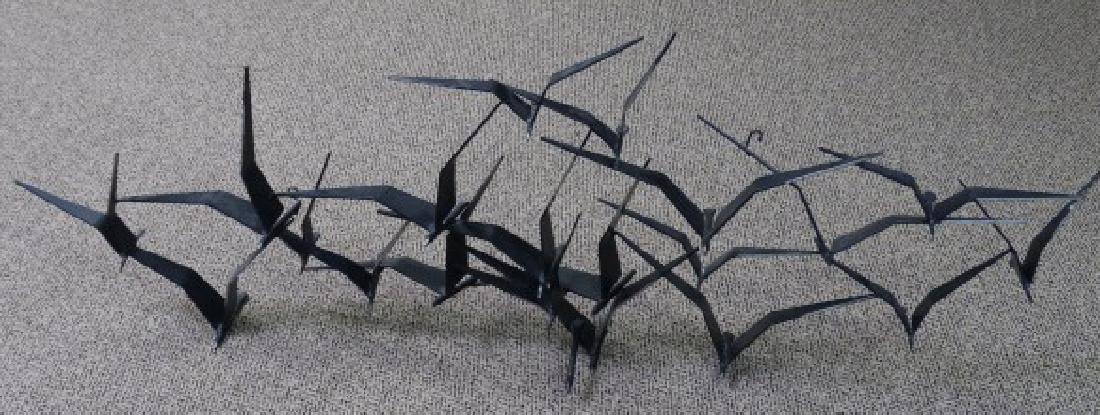 CURTIS JERE - Wall Sculpture of Birds in Flight - 2