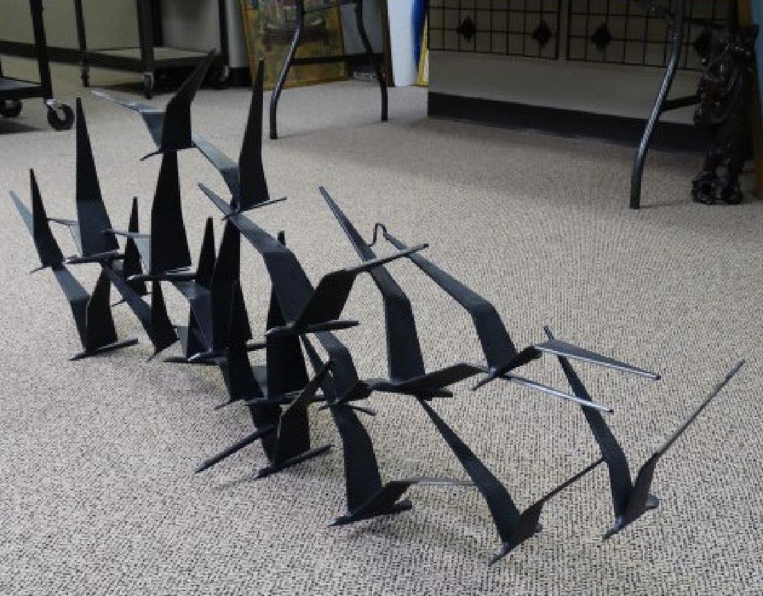 CURTIS JERE - Wall Sculpture of Birds in Flight - 3