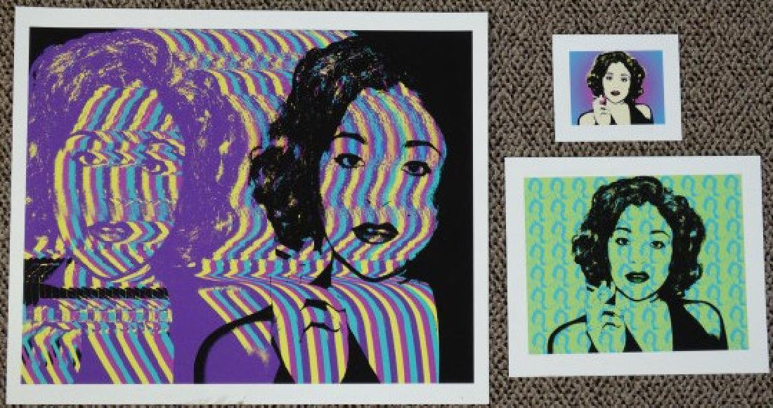 Grouping of 3 Warhol Inspired Prints