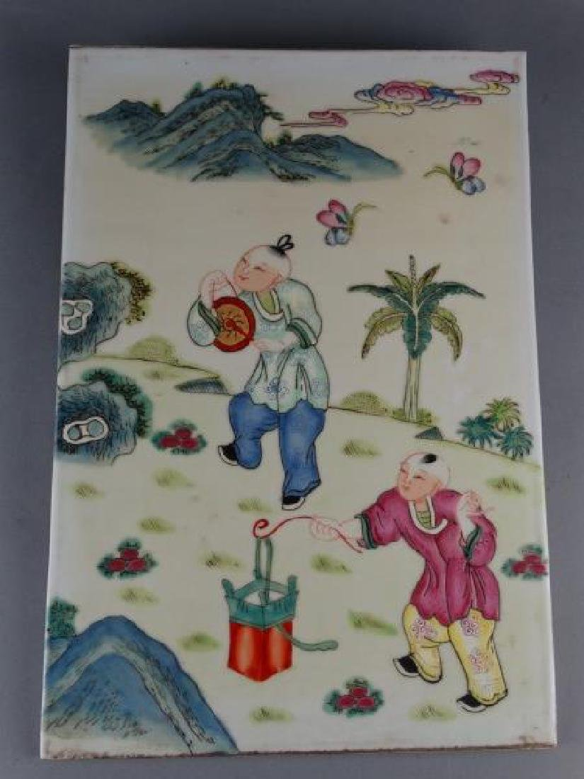 Painted Chinese Porcelain Tile