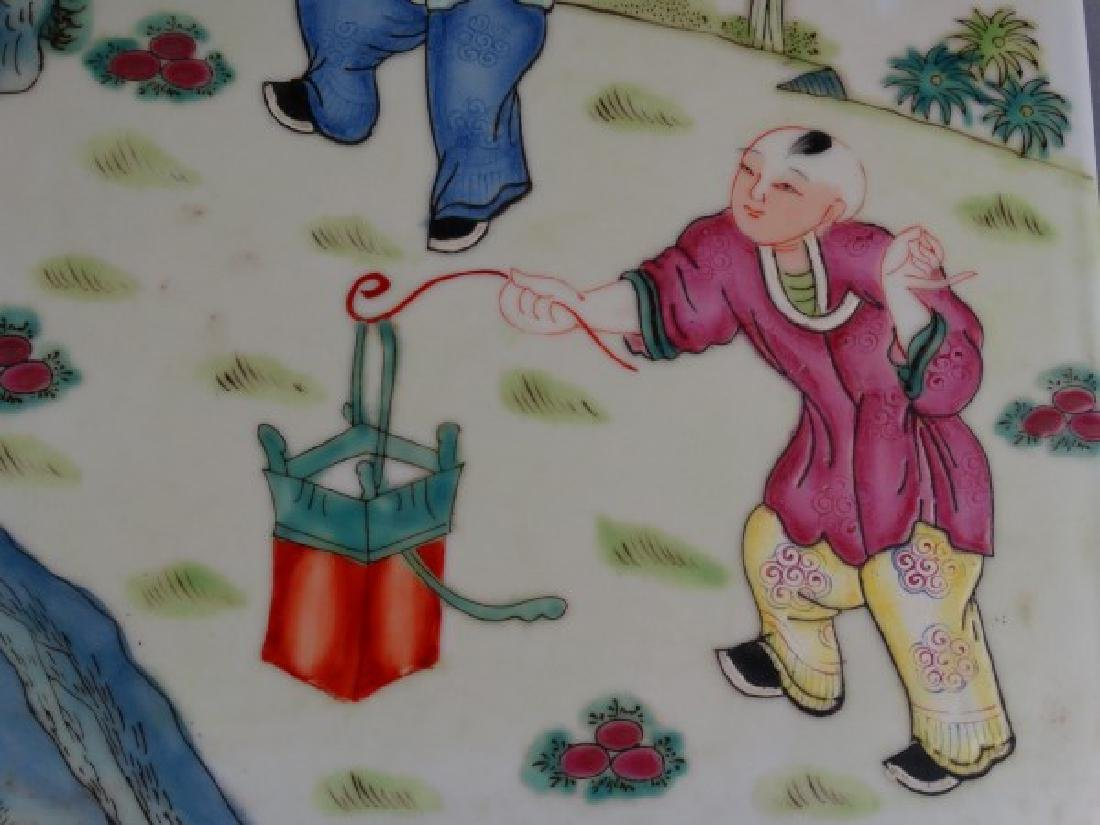 Painted Chinese Porcelain Tile - 2