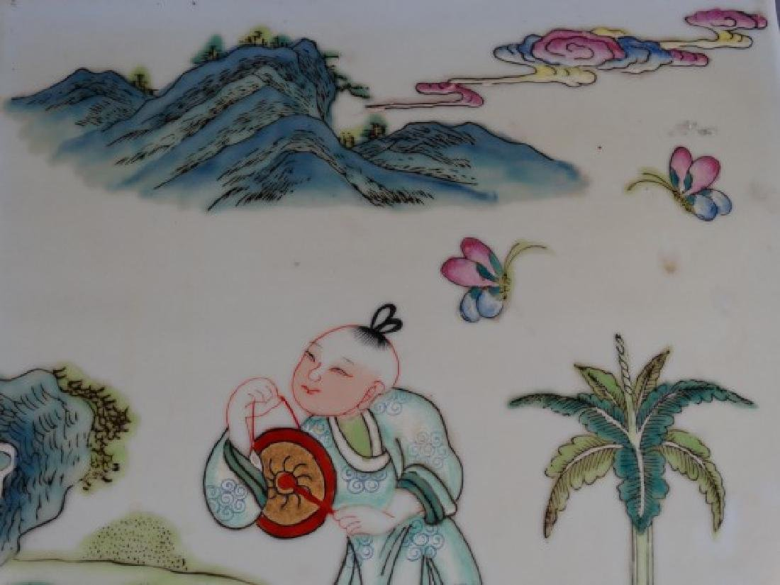 Painted Chinese Porcelain Tile - 3