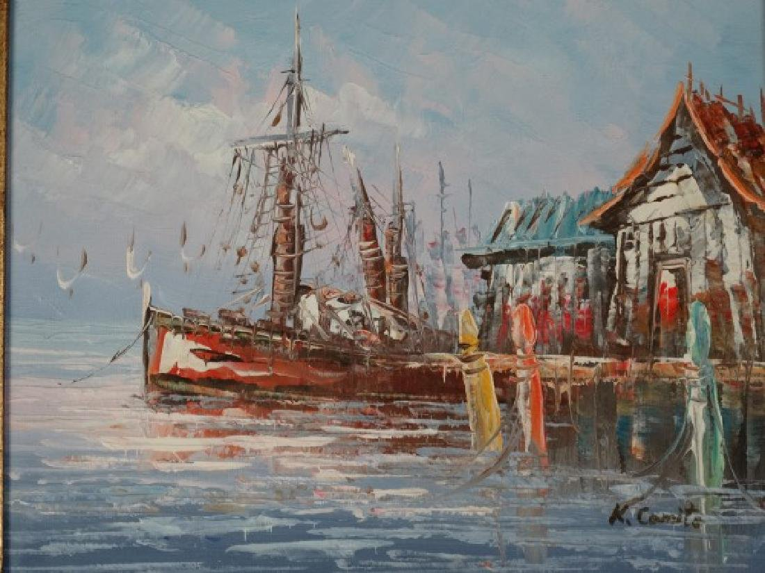 K. COMITE - Oil on Canvas Painting, 'Seascape'