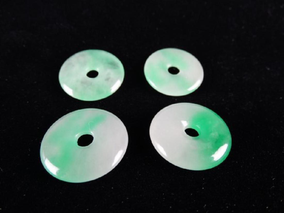 Lot of 4 Jade Discs - 2
