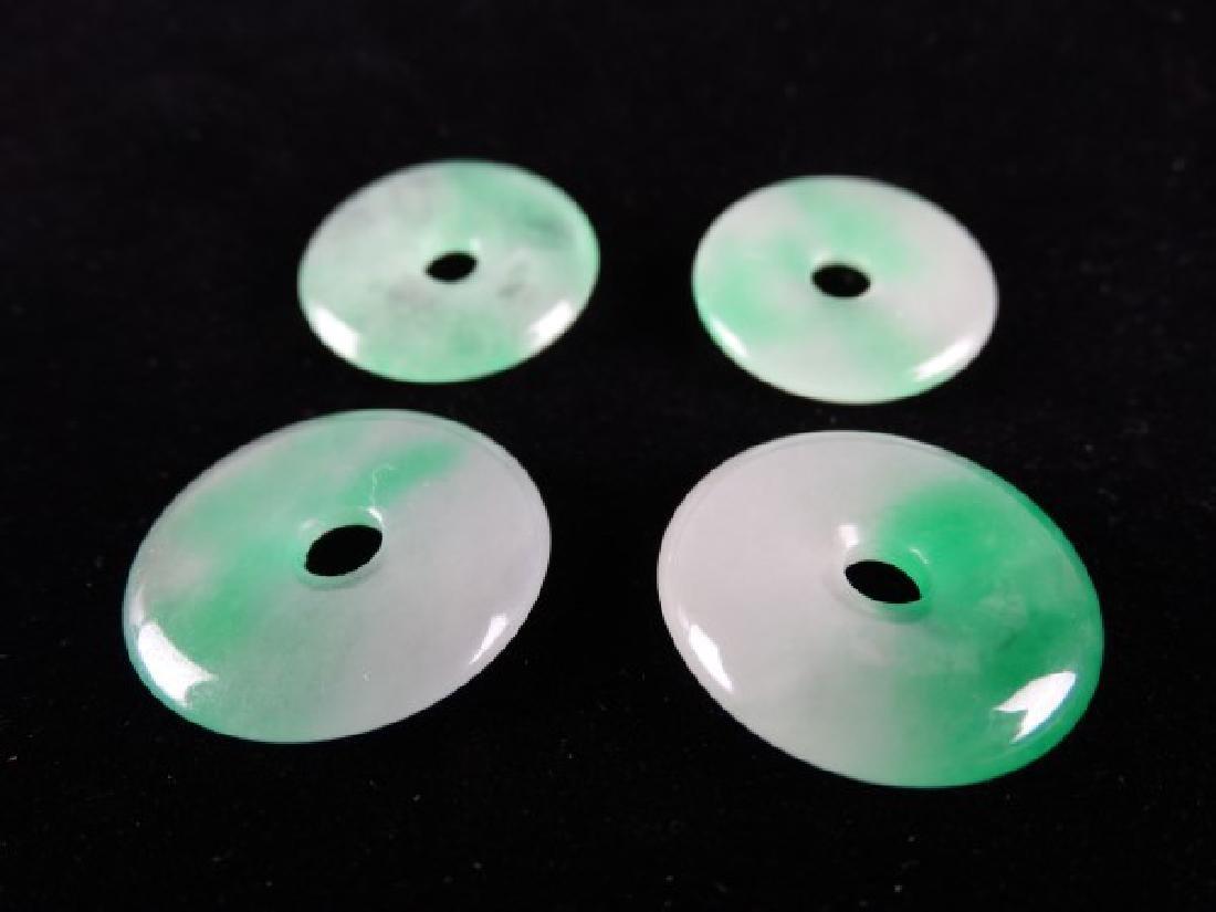 Lot of 4 Jade Discs - 3