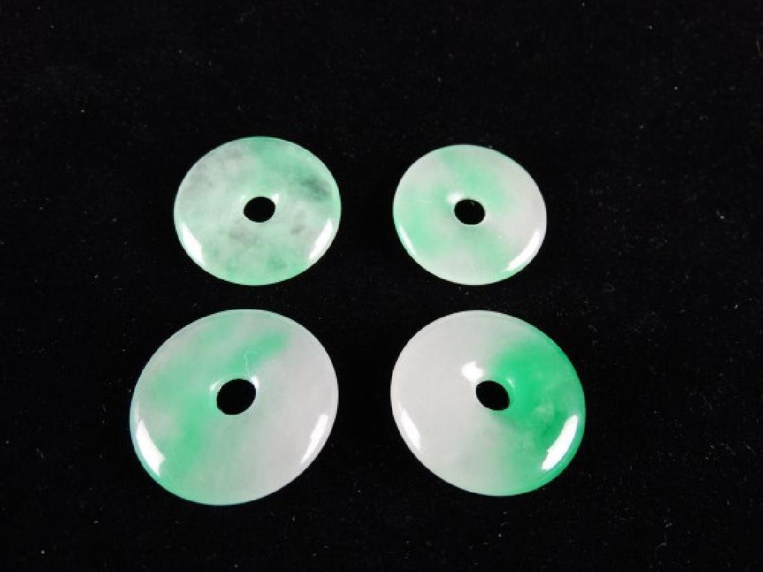 Lot of 4 Jade Discs - 4