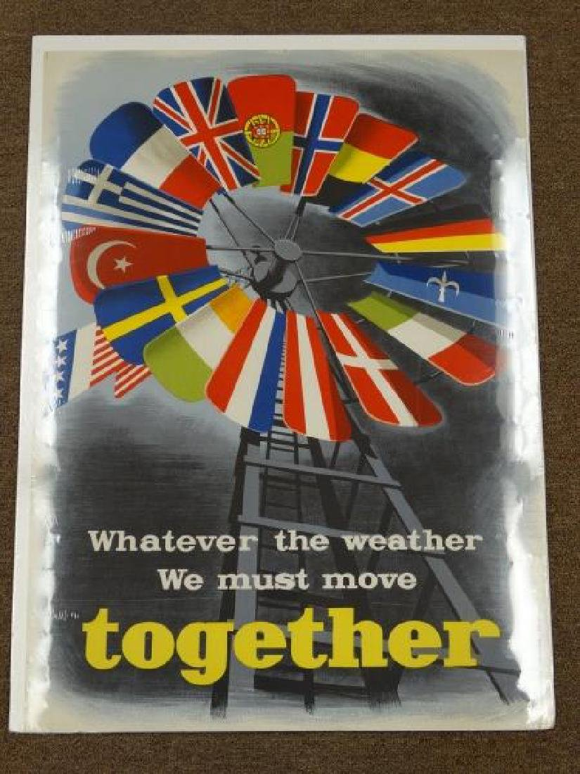 Original 1950's European Poster for NATO