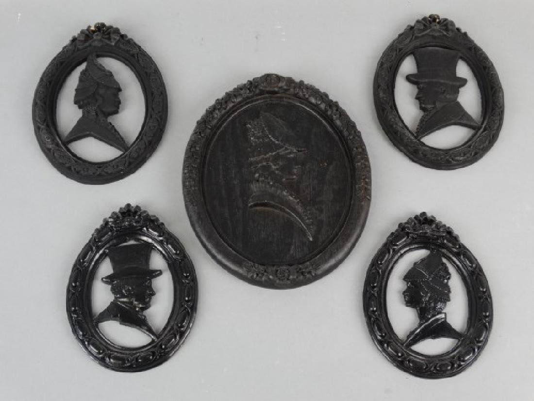 Lot of 5 Silhouette Placques