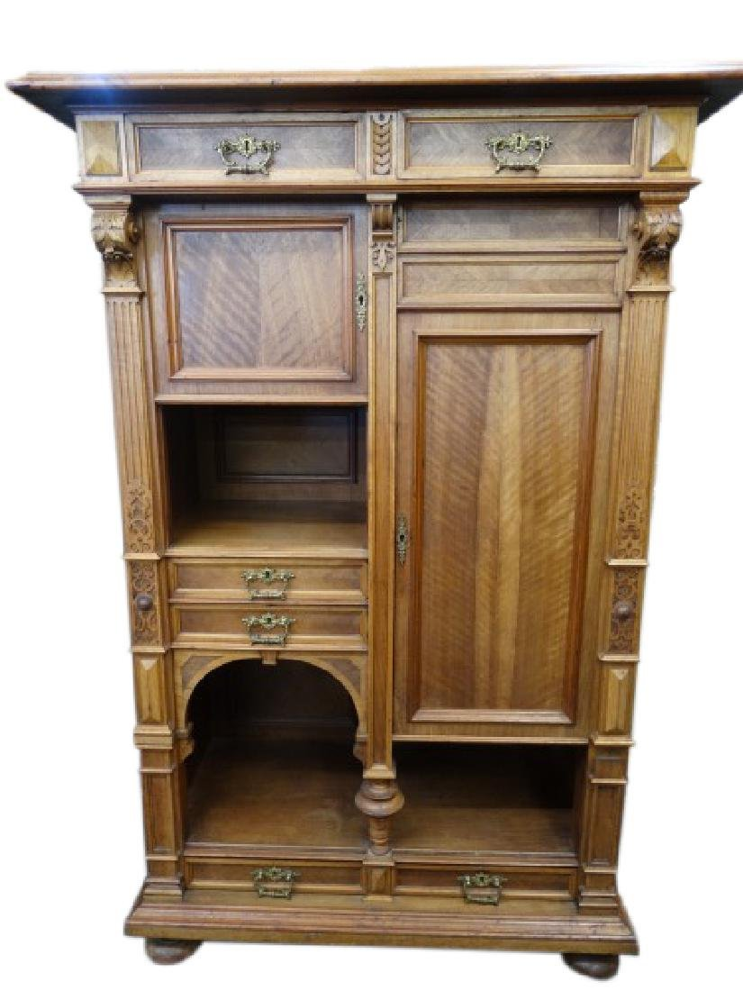 19c. French Henri II Cabinet