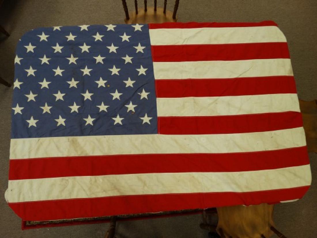 Vintage U.S. 50 Star Cotton Flag