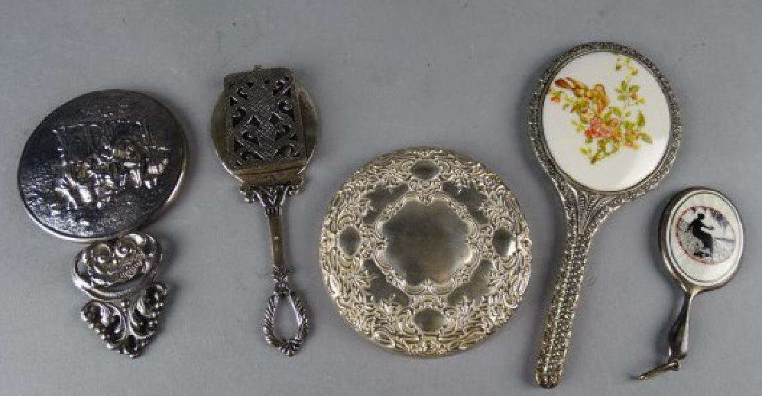 Lot of 5 Silver & Silverplate Hand Mirrors