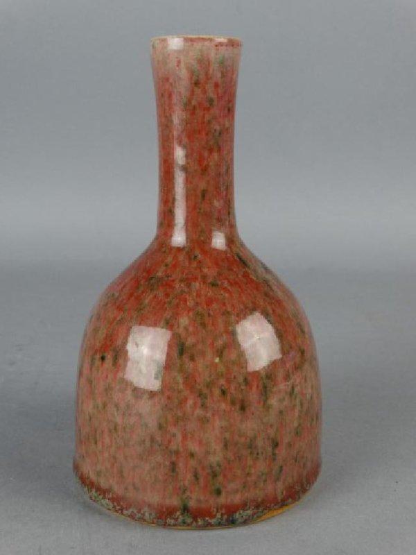 Chinese Peachbloom Glazed Vase