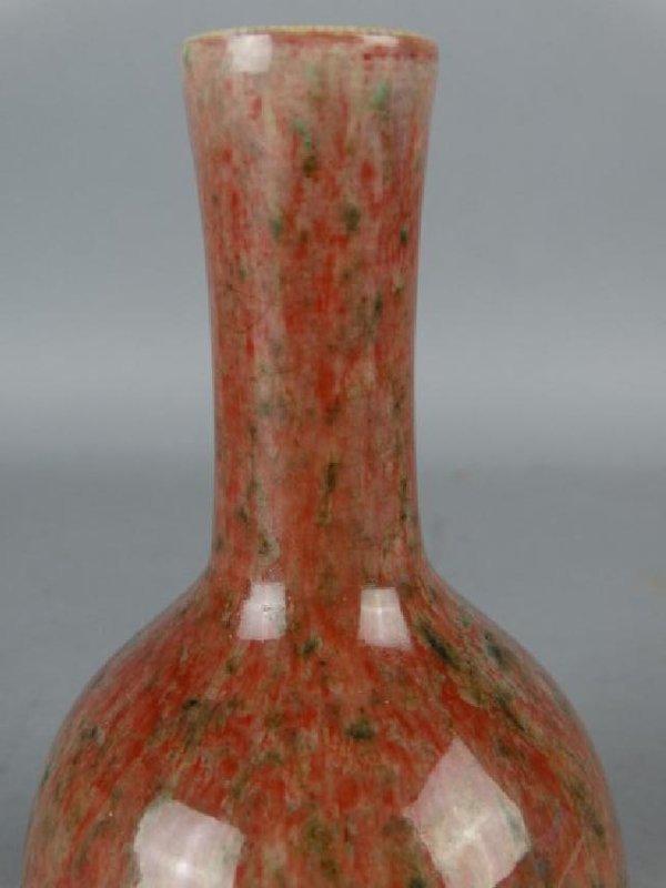Chinese Peachbloom Glazed Vase - 3