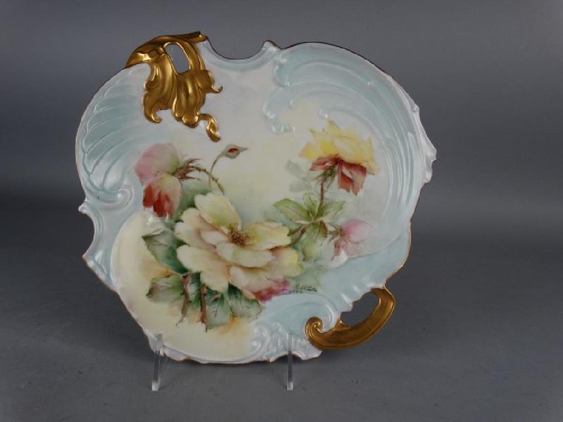 Hand Painted French Porcelain Plate - Ruth Little