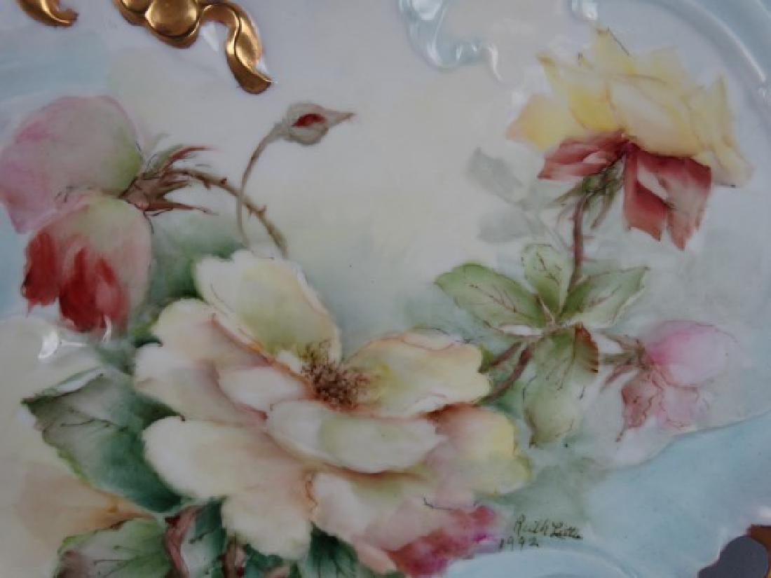 Hand Painted French Porcelain Plate - Ruth Little - 3