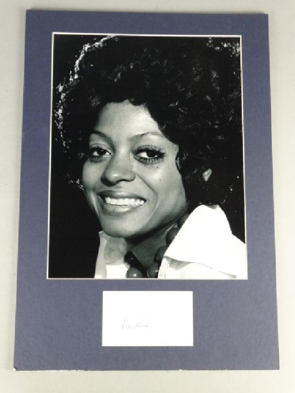 DIANA ROSS - Matted Autograph & Photo
