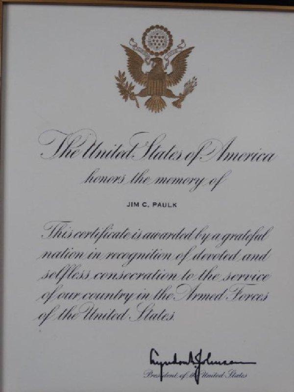 LYNDON BAINES JOHNSON - Autographed Document - 2
