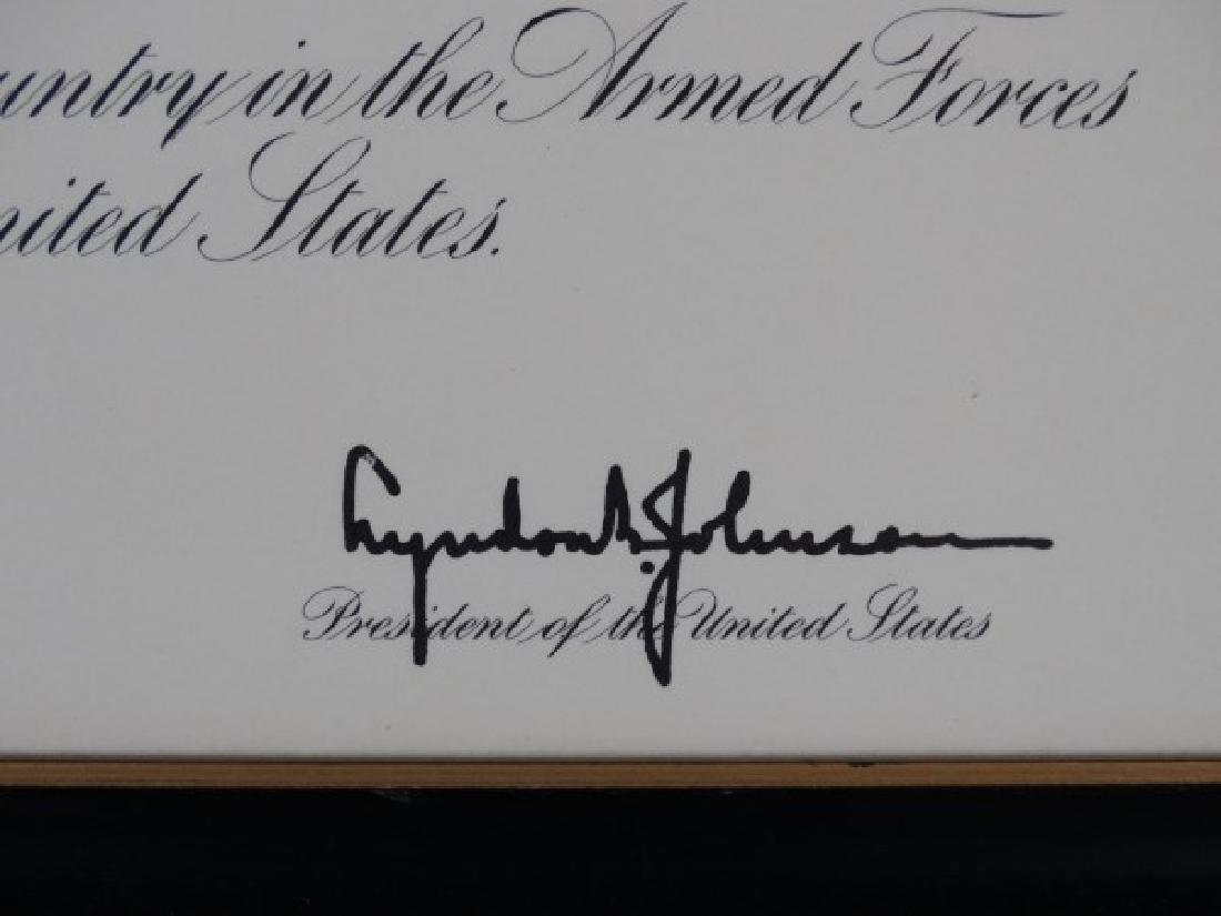 LYNDON BAINES JOHNSON - Autographed Document - 3