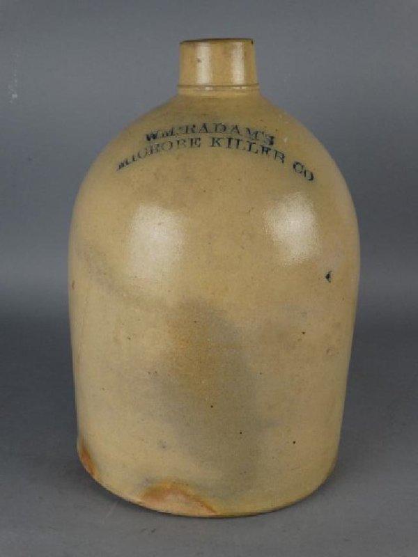 W.M. RADAM'S - Microbe Killer Stoneware Crock