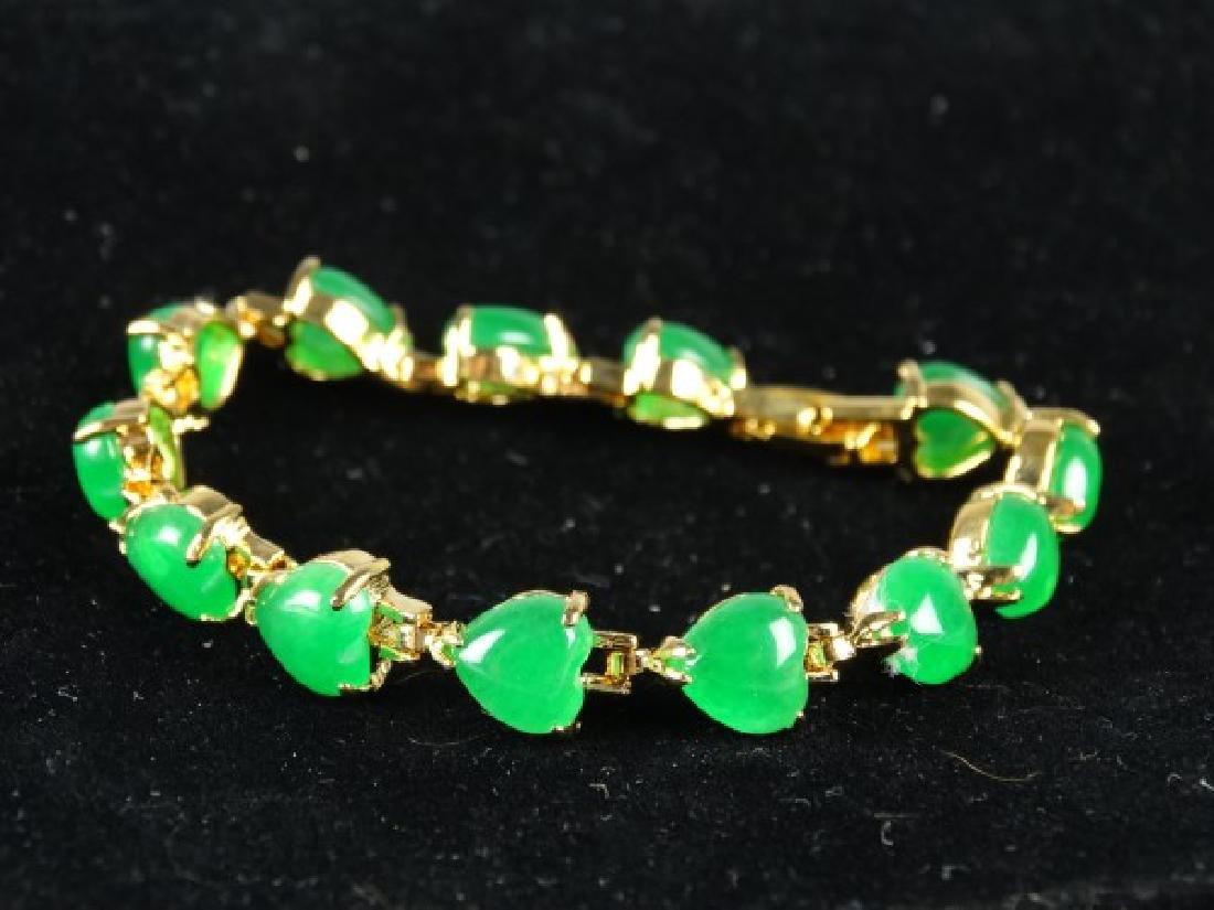 Green Jade Heart Bracelet