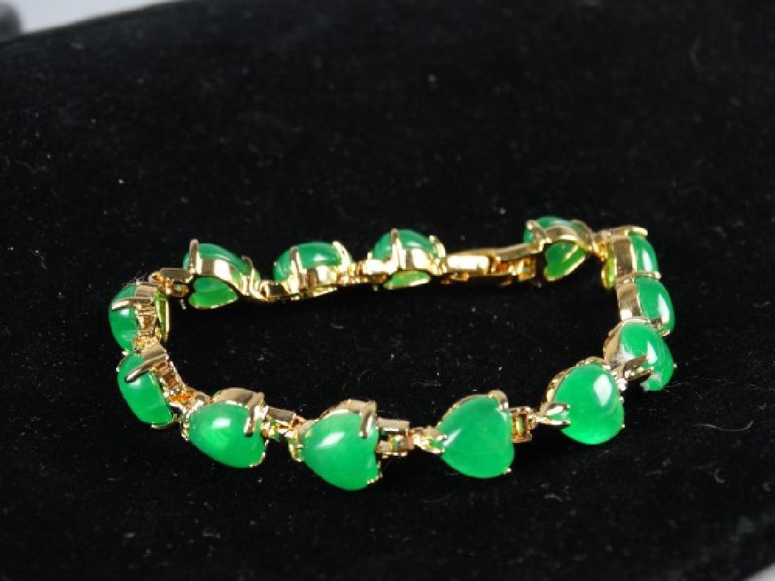 Green Jade Heart Bracelet - 2