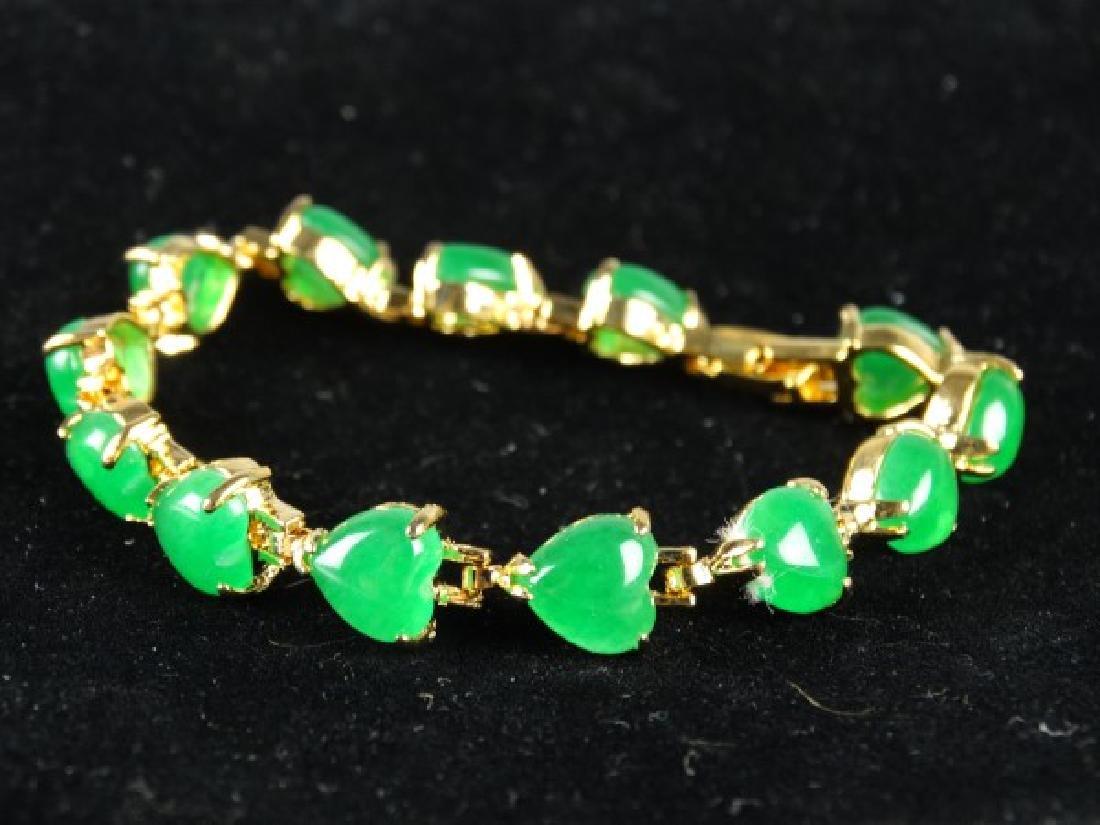 Green Jade Heart Bracelet - 3