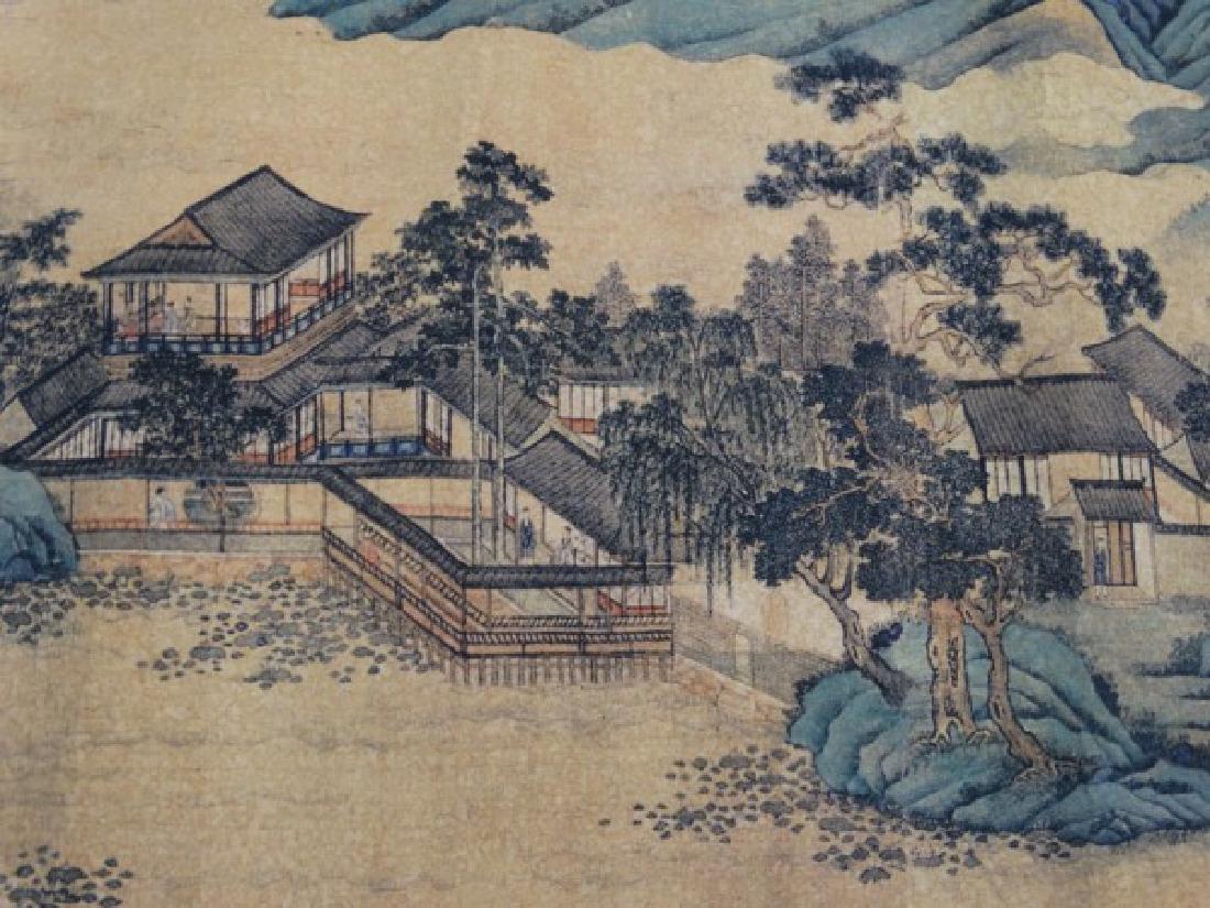Chinese Horizontal Scroll Print - Cityscape - 5