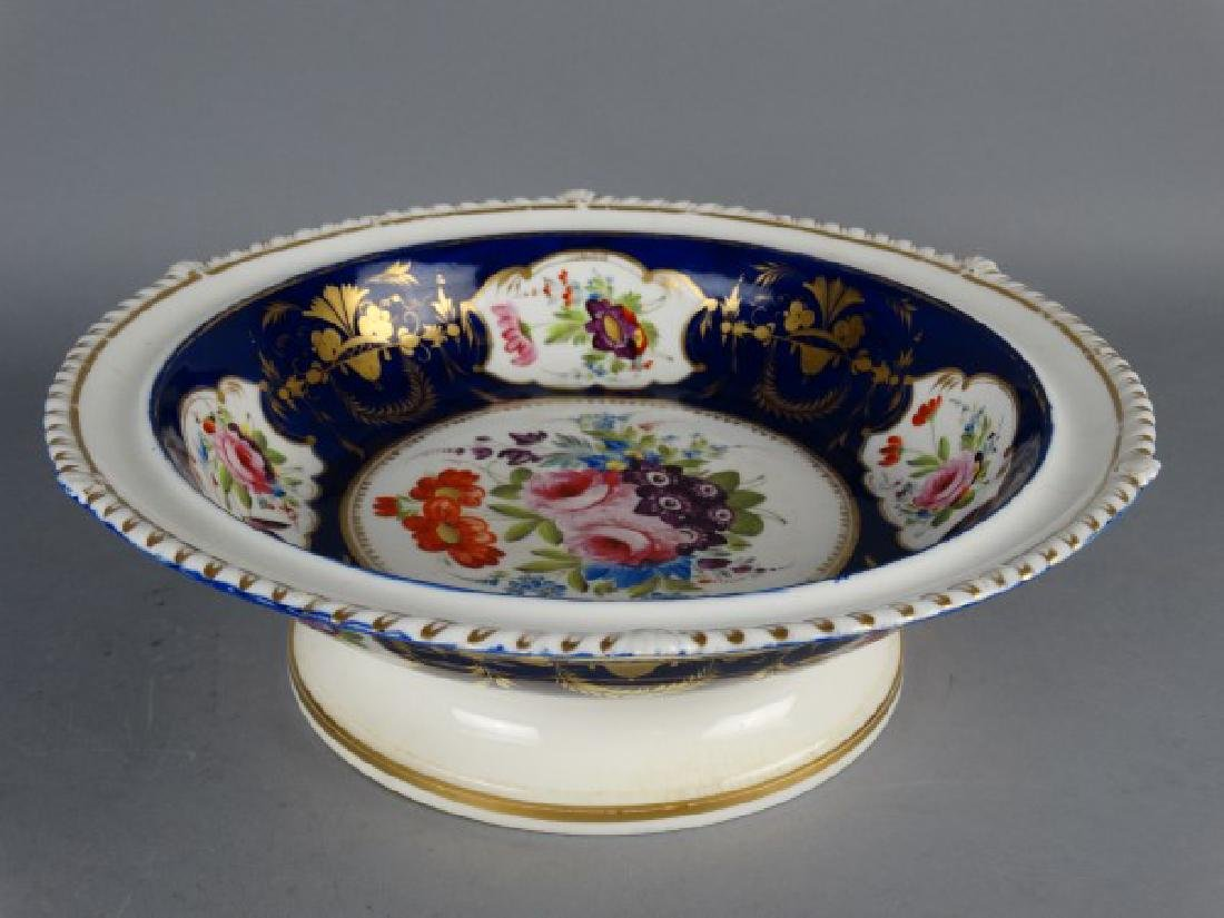 French Enameled Porcelain Tazza