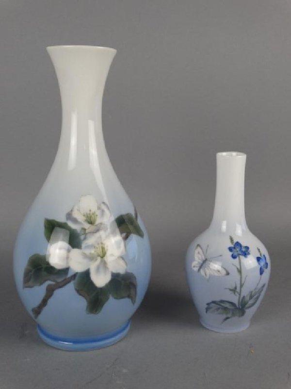 Lot of 2 Royal Copehagen Vases
