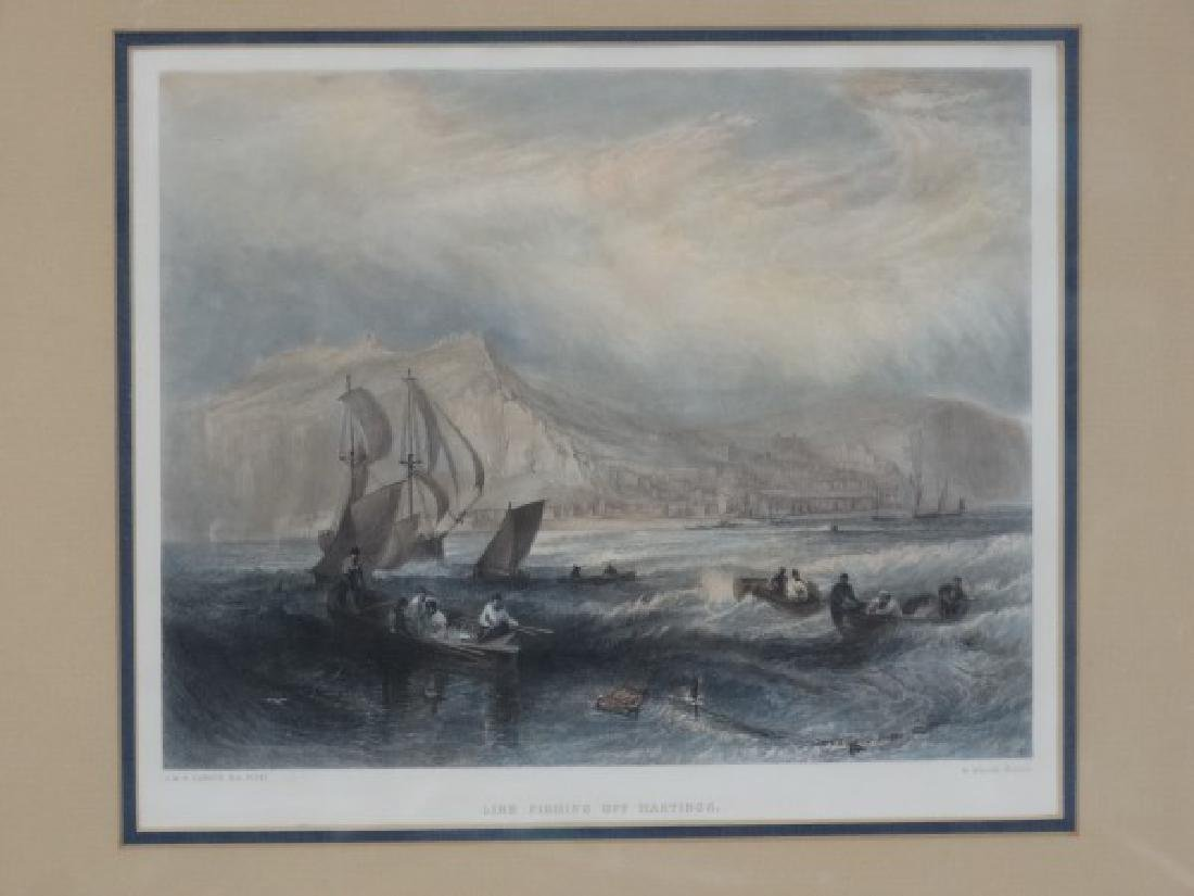 J.M. TURNER - Colorized Lithograph