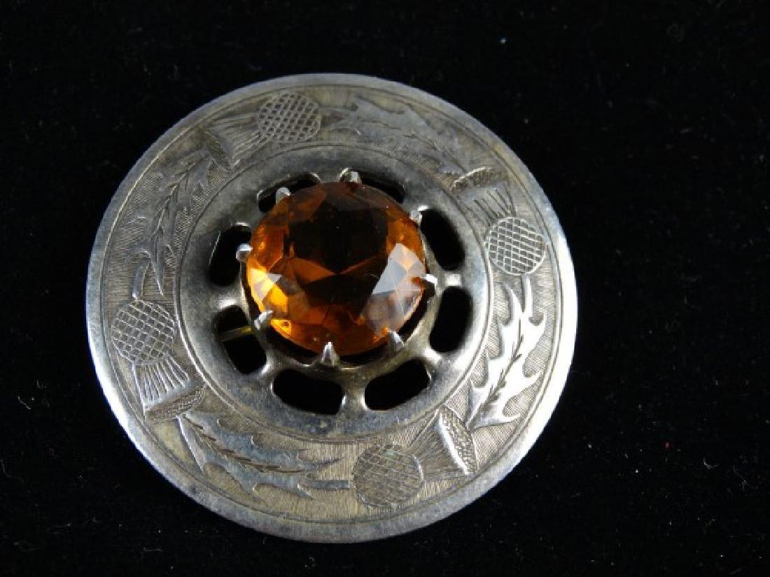 British Silver & Cairngorm Brooch