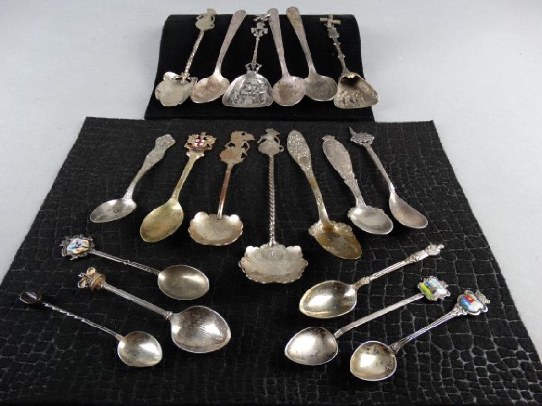 Assorted Lot of 19 Collectible Spoons