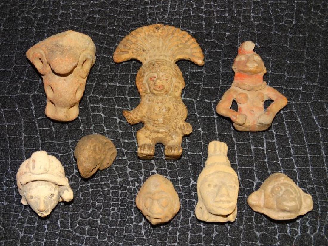 Lot of 8 Jamacoaque Heads & Figures