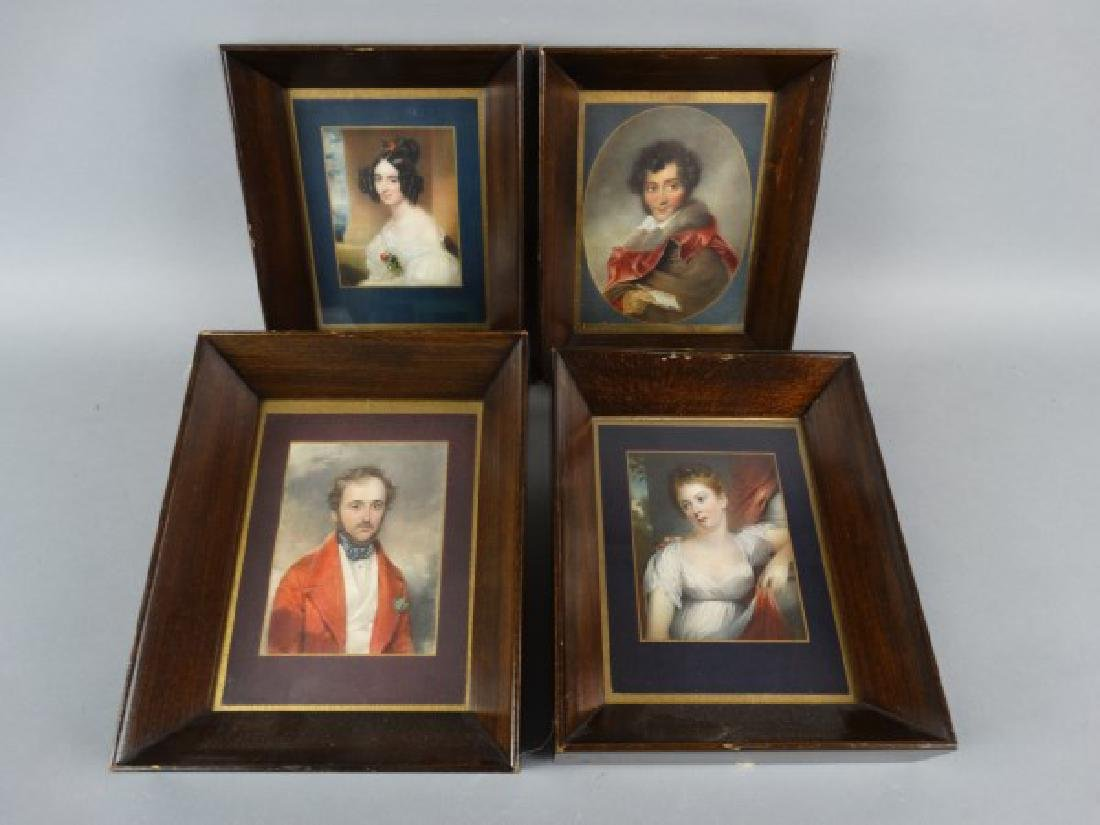 Lot of 4 Framed Portrait Miniature Prints