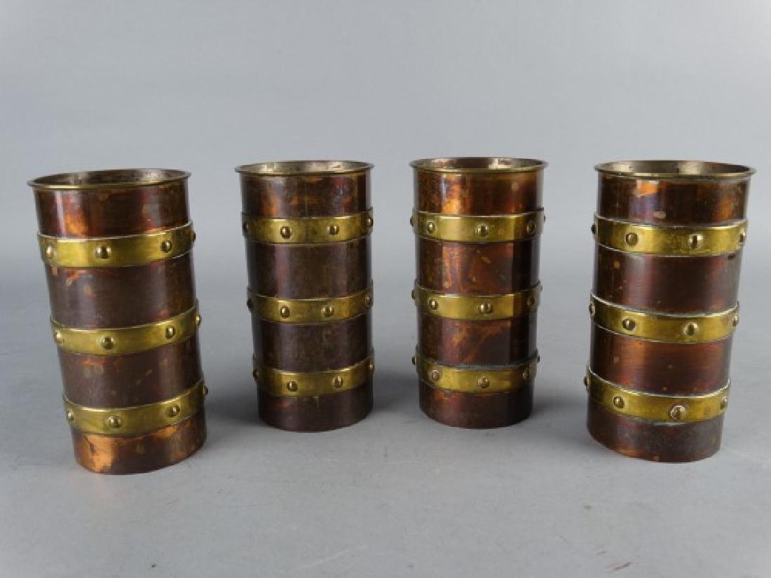 4 Copper & Brass Tankards by Saltillo Silver Co. - 2