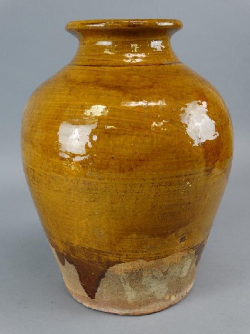 Large Japanese Studio Art Pottery Glazed Vase