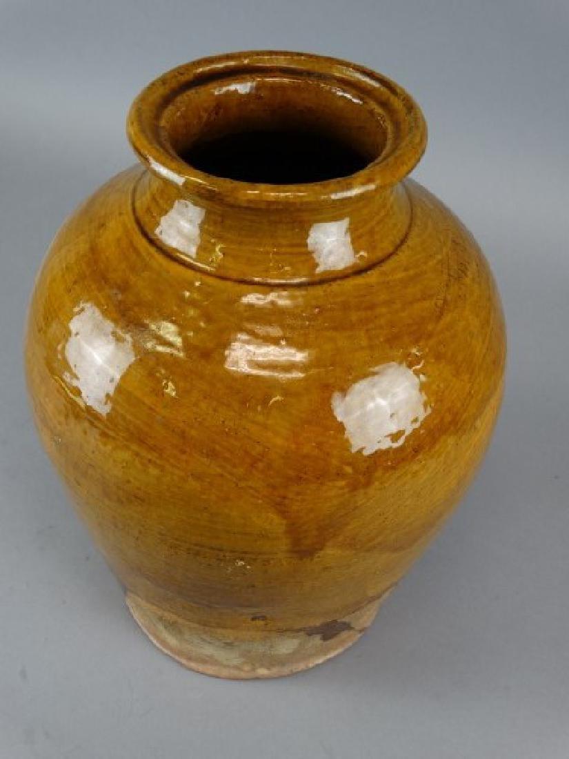 Large Japanese Studio Art Pottery Glazed Vase - 2