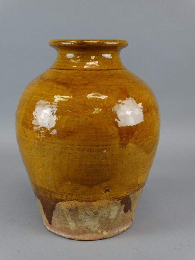 Large Japanese Studio Art Pottery Glazed Vase - 4