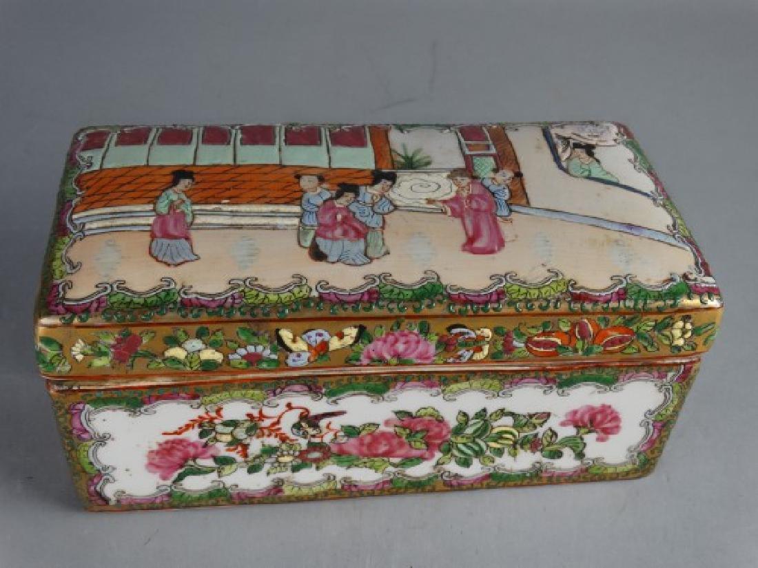 Chinese Rose Medallion Lidded Box