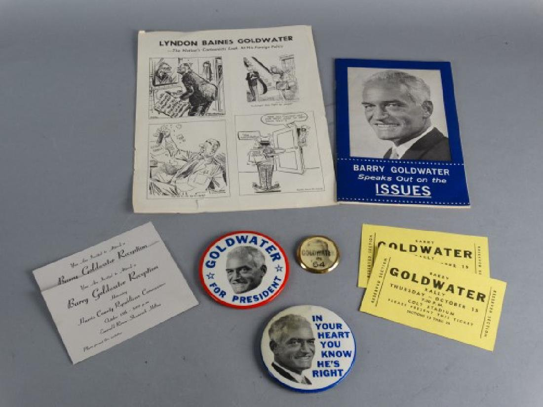 BARRY GOLDWATER - Assorted Lot of Campaign Items