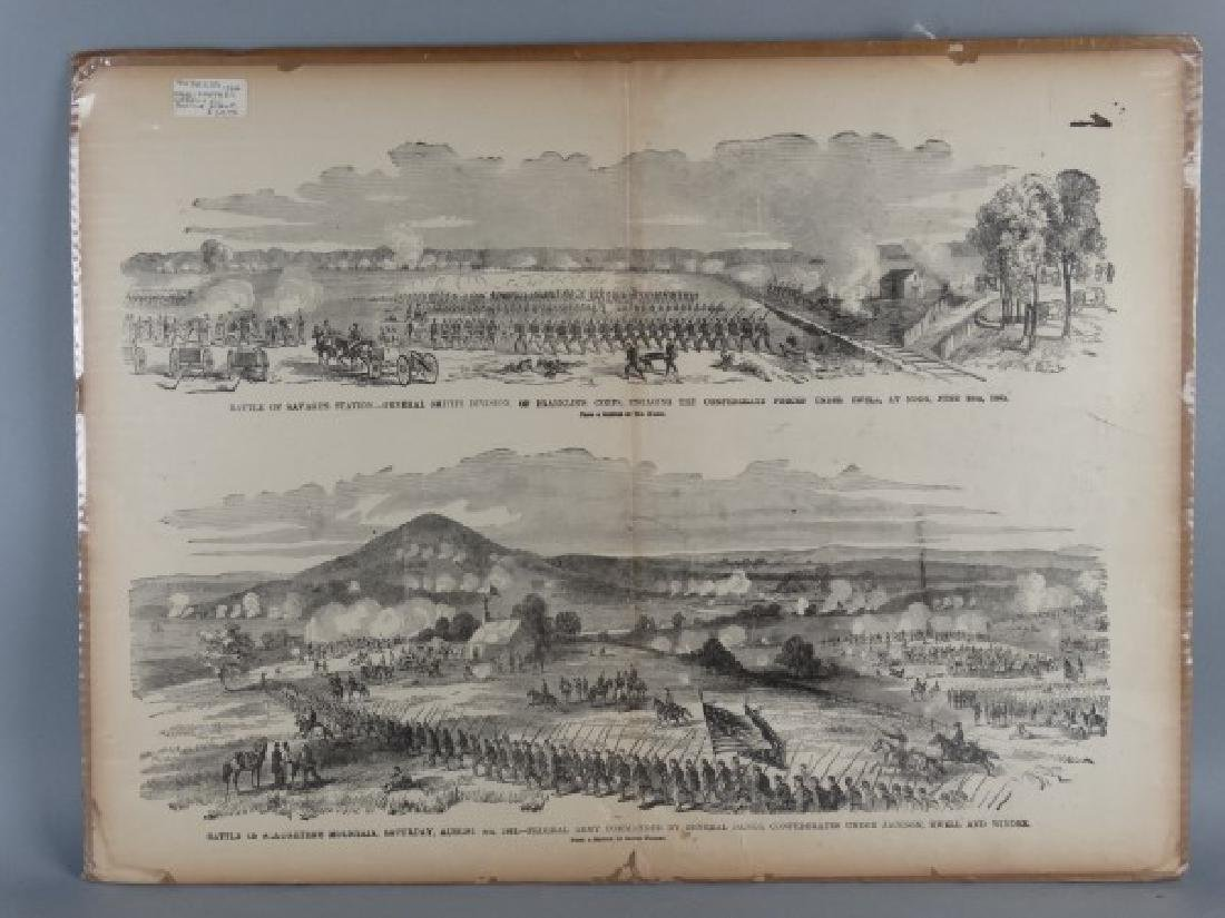 1864 Harper's Weekly Battle Scene