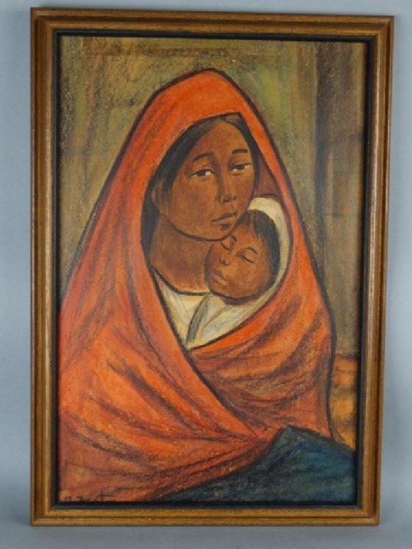 RODOLFO NIETO (Mexican, 1936-1988) Pastel