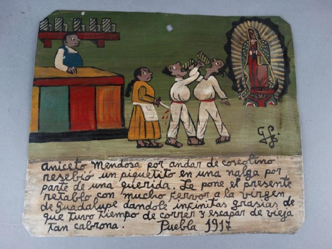 Mexican Folk Art Retablo 1917